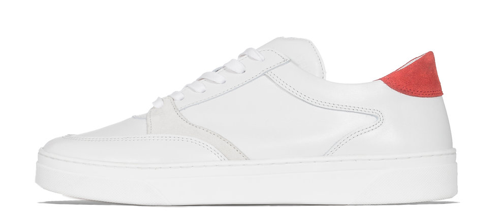 LOW TRAINER WHITE/RED