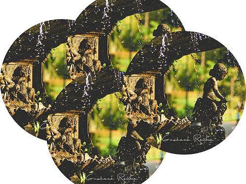 Kit Porta Copos, 4 Cerâmicas - Chafariz Rio- Gustavo Rocha