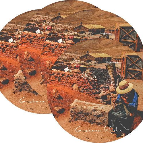 Kit Porta Copos, 4 Cerâmicas - Atacama - Machuca - Gustavo Rocha