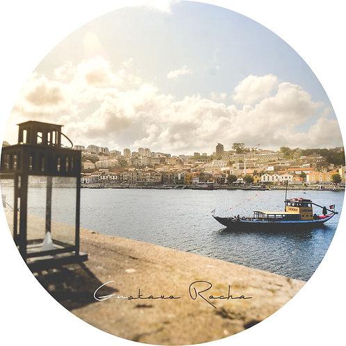 1 Porta Copos - Individual Cerâmico - Porto Rio Douro Barco  - Gustavo Rocha