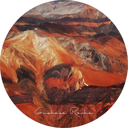 1 Porta Copos - Individual Cerâmico - Atacama Aéreo - Gustavo Rocha