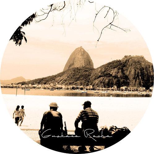1 Porta Copos - Individual Cerâmico Rio de Janeiro  - Sépia - Gustavo Rocha