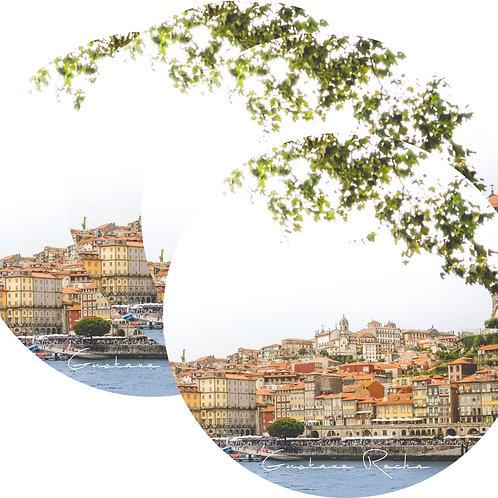 Kit Porta Copos, 4 Cerâmicas Porto. Rio Douro - Portugal - Gustavo Rocha