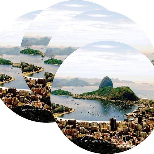 Kit Porta Copos, 4 Cerâmicas Rio de Janeiro - Gustavo Rocha