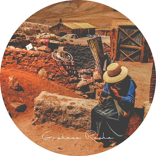 1 Porta Copos - Individual Cerâmico - Atacama Machuca -  Gustavo R