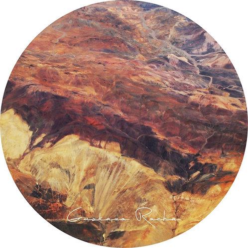 1 Porta Copos - Individual Cerâmico - Atacama Visto de Cima - Gustavo Rocha