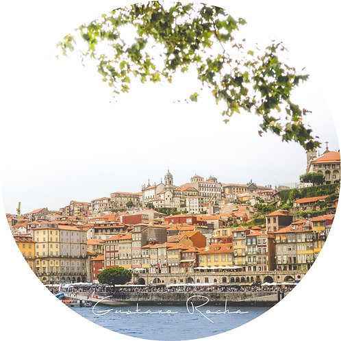 1 Porta Copos - Individual Cerâmico Porto Rio Douro - Portugal - Gustavo Rocha