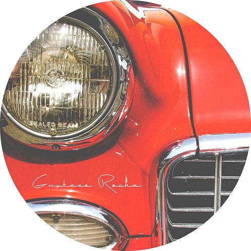 1 Porta Copos - Individual - Carro Vermelho - Gustavo Rocha