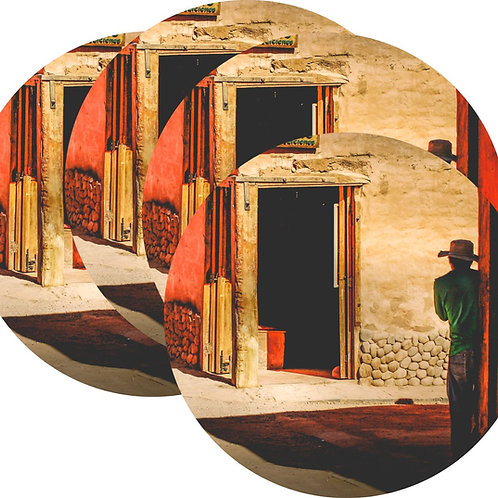 Kit Porta Copos, 4 Cerâmicas Atacama - Chile - Gustavo Rocha