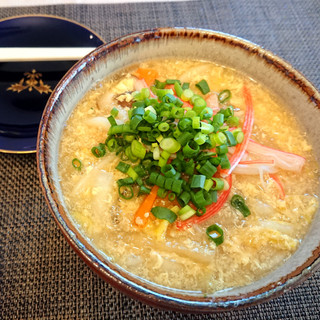 Starchy Udon with Egg & Vegetable