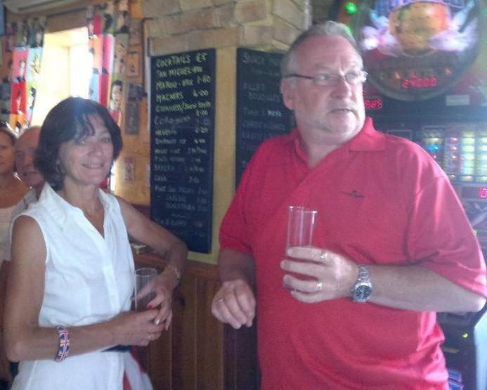 Drinking in Fathoms Bar, Sabinillas