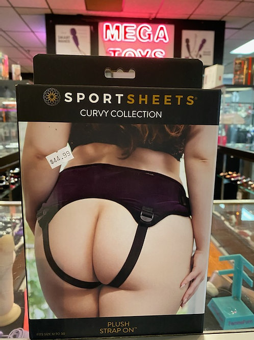 Plush Strap On - Sportsheets Curvy Collections