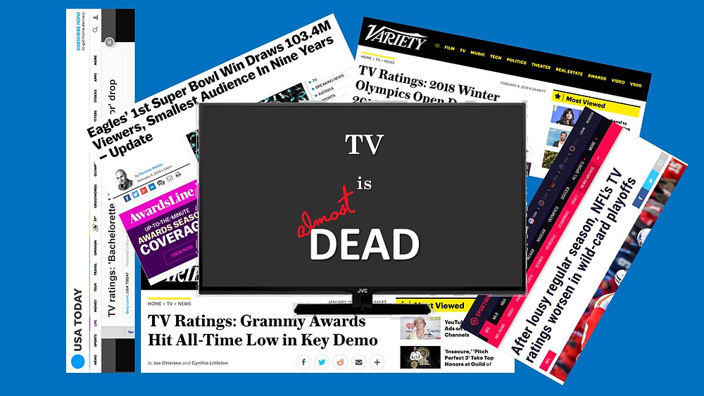 tv is almost dead