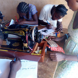 English is important because even though it is Ghana's national language, many villages primarily use their local language. To become a offical dressmaker students need to pass the written ENGLISH exam.