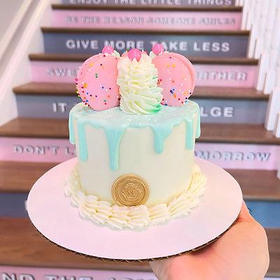 4 inch  Small 2 layer Cake