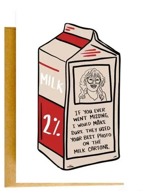 Milk Carton Color Envelope Card