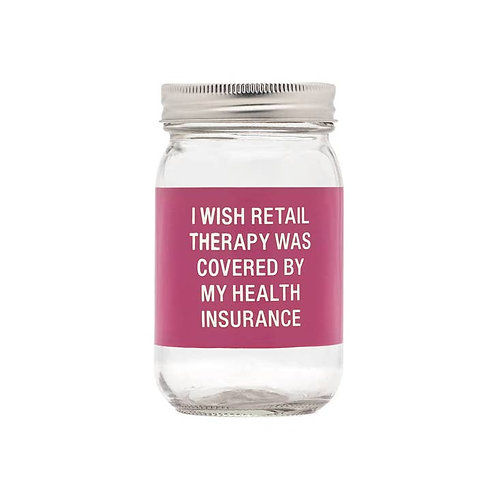 I Wish Retail Therapy Glass Bank