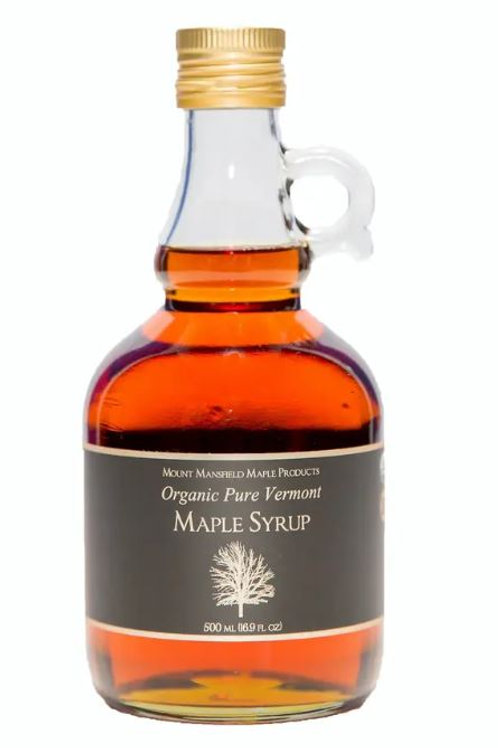 500 ml - Organic Pure Vermont Maple Syrup Glass Jug