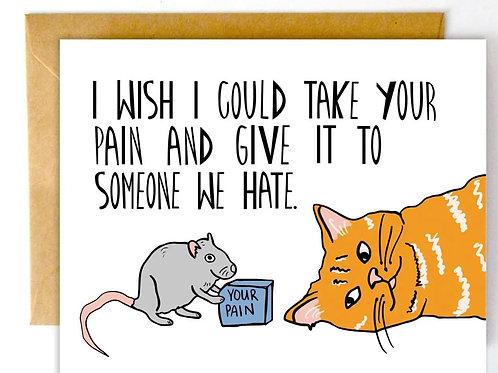Take Pain Away Color Envelope Card