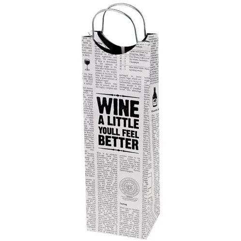 Word Press Wine Bag