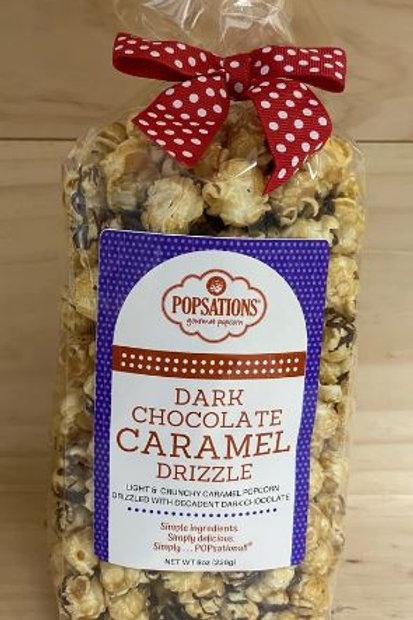 Popsations Dark Chocolate  Caramel Drizzle Popcorn 8oz Bag