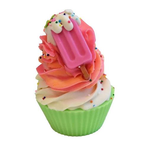 Rainbow Sherbet Artisan Soap Cupcake