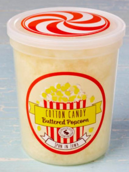 Buttered Popcorn Cotton Candy 1.75 oz Tub