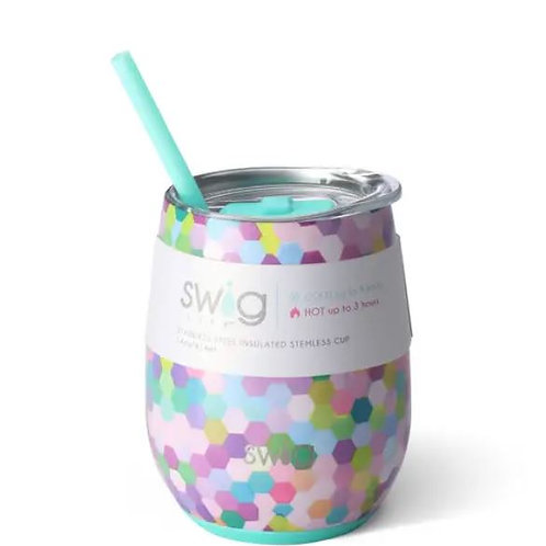 Confetti Party Signature 14oz Stemless Cup