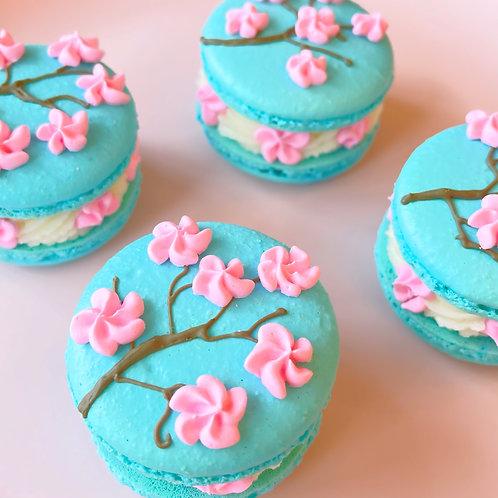 Cherry Blossom Macarons 4 pack