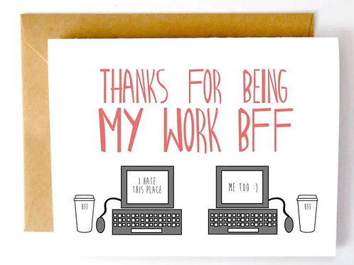 Work BFF Color Envelope Card