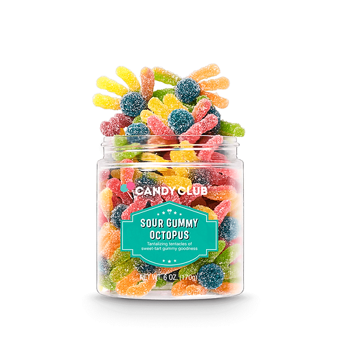 Sour Gummy Octopus (large cup)- Candy Club