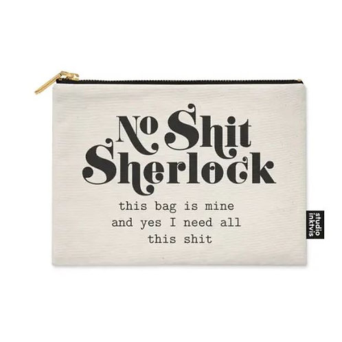 No Shit Sherlock Canvas Case Bag