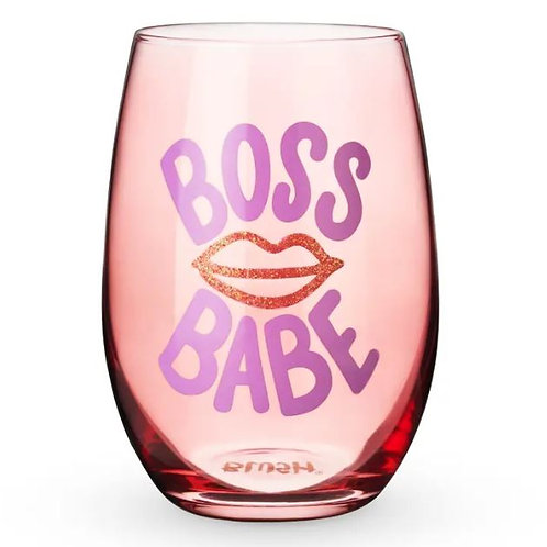 Boss Babe Stemless Wine Glass