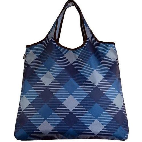 YaYbag ORIGINAL Stylish Reusable Bag - Navy Plaid