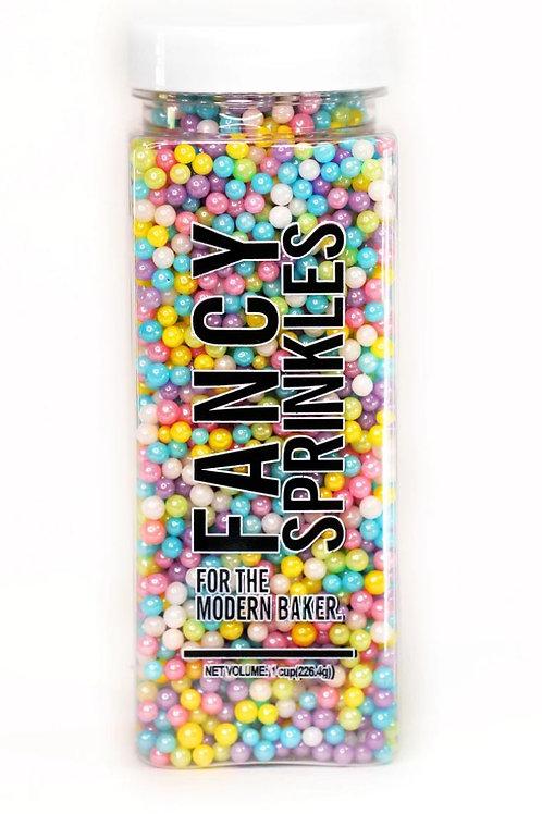 Pastel Mini Simmer Pearls (Vegan) Fancy Sprinkles 8 oz Jar
