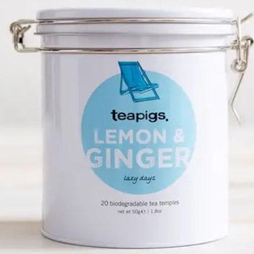 Tins of Tea Lemon & Ginger