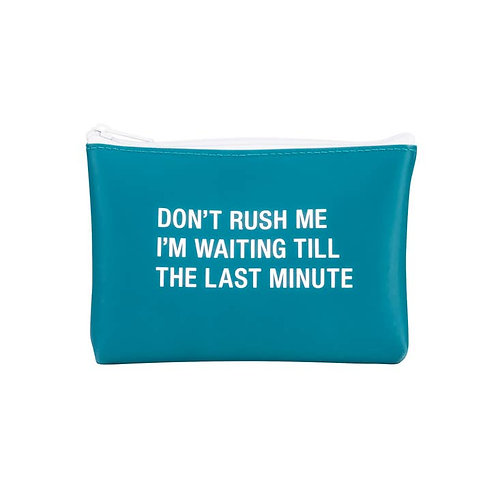 Don't Rush Me Silicone Cosmetic Bag - Small