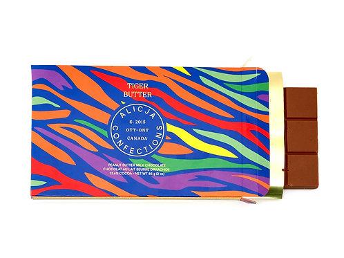 Tiger Butter Milk Postcard Chocolate Bar