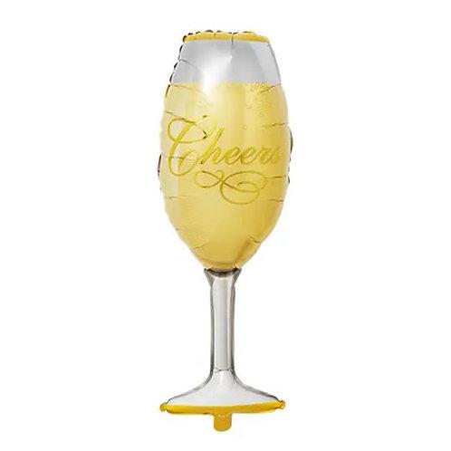 Champagne Glass Mylar Balloon