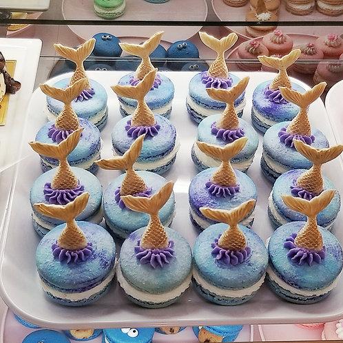 Mermaid Macarons 24 pk