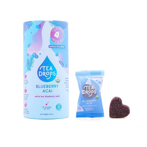 Blueberry Acai White - Tea Drops Retail Cylinder