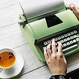 Zelená psací stroj