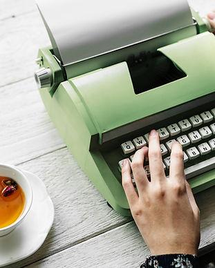 Zielona maszyna do pisania