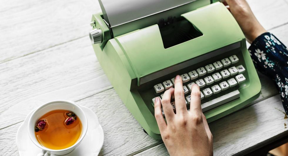 Macchina da scrivere verde