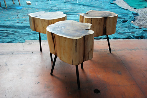 Tree Trunk Table with Steel legs