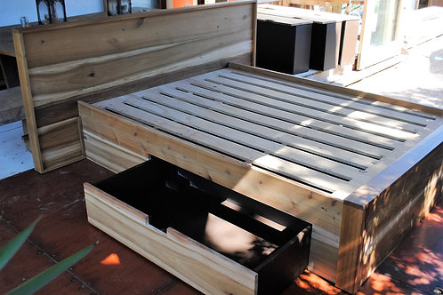 Double Bed with drawers - Blackwood