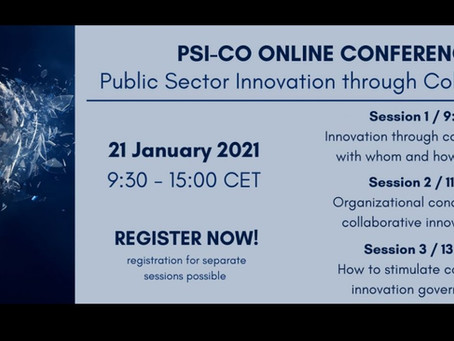 Public Sector innovation (BELSPO conference) -tweets