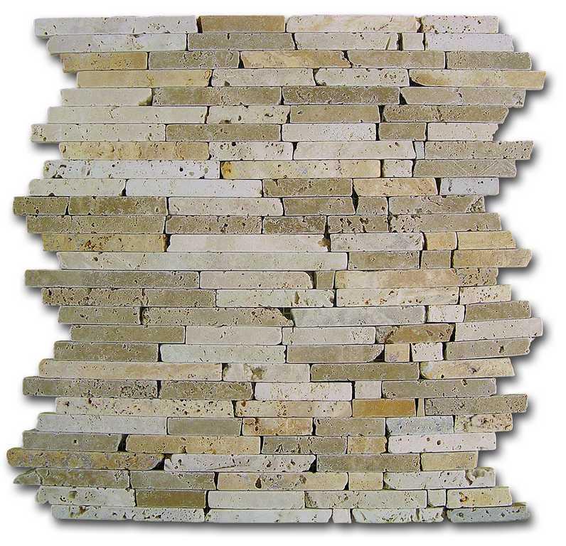 DUNE mosaico travertino pencil
