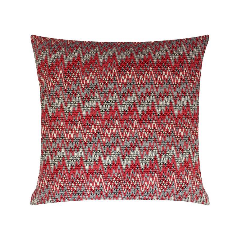 T7RK Almofada Knitting - Red Grey
