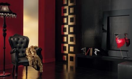 Luxoring Cornice Oro Nero e Laccato Nero